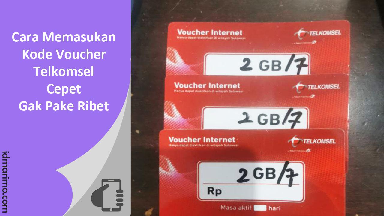 cara memasukan voucher telkomsel