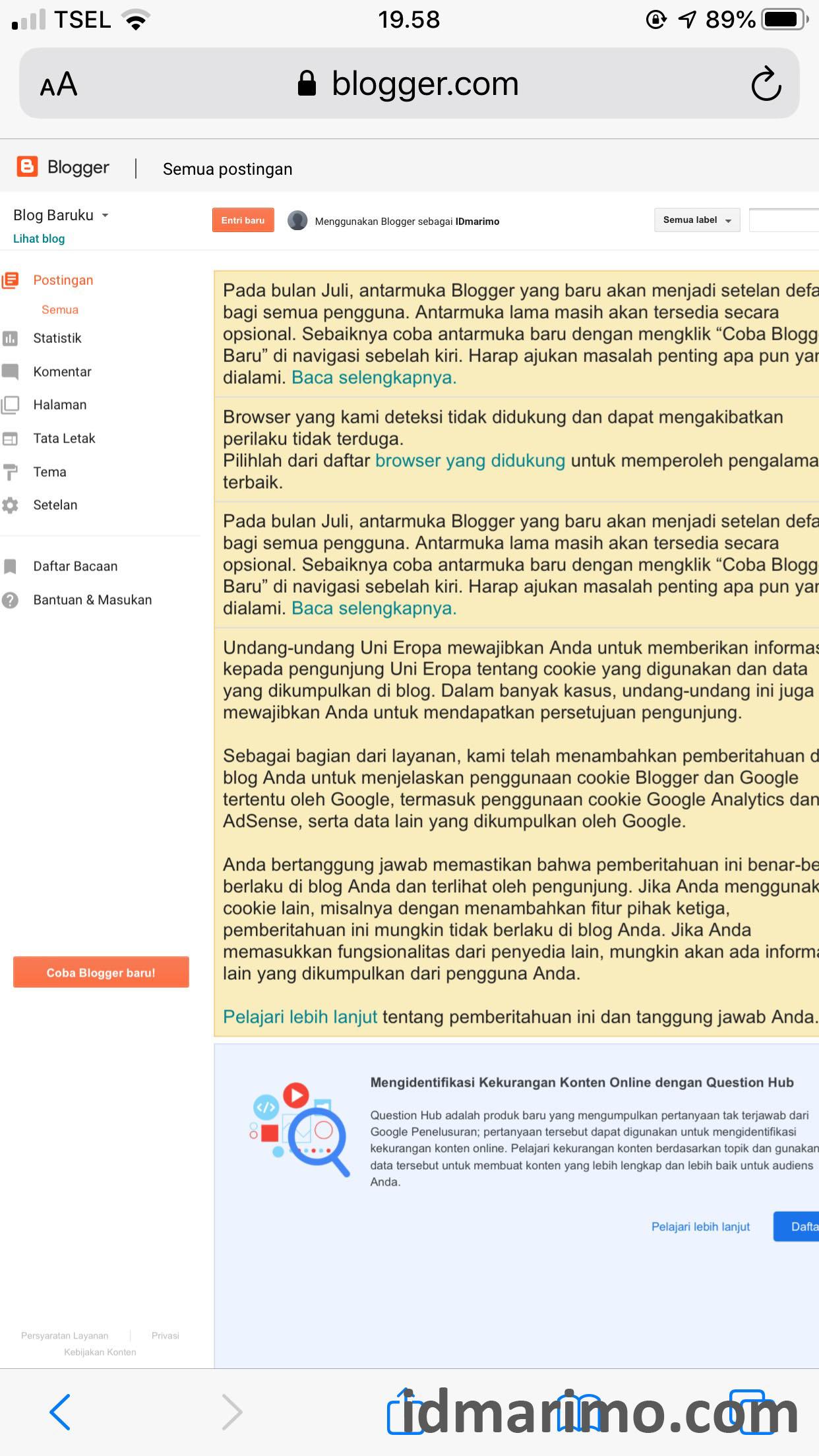 membuat blog di hp android